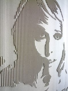 Cardboard Portrait (Jane) - by Andreas Scheiger