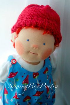 Waldorf inspired doll  POETRY BOY  14'' doll  by SewingBoxPoetry, $225.00