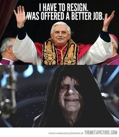Pope's new job…