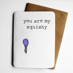 You are my squishy - Finding Nemo inspired card by 4four on Etsy, $4.00