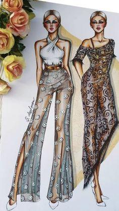 Fashion Drawing Tutorial, Fashion Figure Drawing, Drawing Hair Tutorial, Fashion Drawing Dresses, Fashion Illustration Dresses, Fashion Illustrations, Fashion Design Portfolio, Fashion Design Drawings, Fashion Sketches