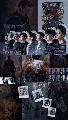 exo layouts — — exo wallpaper exo and avengers Kpop Exo, Exo Kokobop, Exo Do, Lay Exo, Chanyeol, Kyungsoo, Pulp Fiction, Exo Group Photo, Foto Transfer