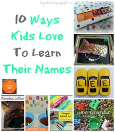 10 Ways Kids Love To Learn Their Name by FSPDT