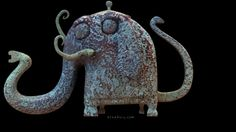 Absurd art and stories by children's book writer and illustrator, wacky cartoonist, striking photographer and bizarre food critic, Bryan Ballinger. Elephant Teapot, Cute Teapot, Asian Design, Historical Artifacts, Cg Art, Pretty And Cute, Tea Sets, Ceramic Pottery, Elephants