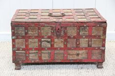 Antique Red Storage Chest – From the Aziza Designs online store.
