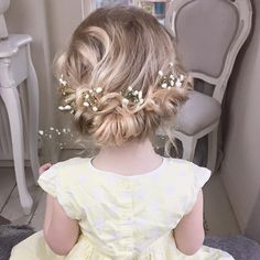 Flower Girl Hair - Baby's Breath