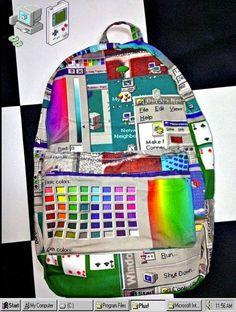 Windows 3.1 Backpack via Vaporwave Fashion