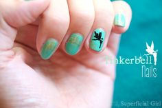 Totally Superficial Girl: Tinkerbell nails