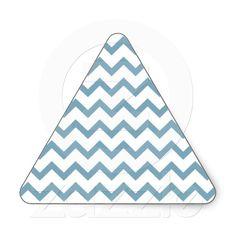 zigzag triangle geometric pattern sticker