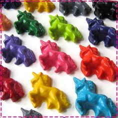 Kids' UNICORN CRAYONS  Coloring Party Favors  by ivylanedesigns