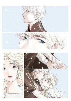 Jack Frost and Elsa - This is beautiful! Arte Disney, Disney Fan Art, Disney And Dreamworks, Disney Pixar, Cold Heart, Frozen Love, Jack Frost And Elsa, Fanart, The Big Four