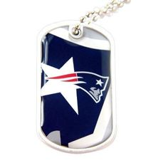 Collars Leads and Harnesses 63112: New England Patriots Nfl Sports Fans Team Logo Pet Dog Tag Id Domed Necklace Nec -> BUY IT NOW ONLY: $108.73 on eBay!