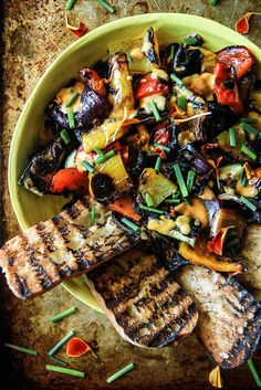 Grilled Vegetable Salad from http://HeatherChristo.com