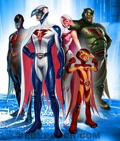 Battle Of The Planets! A five-member superhero team called G-Force fights to defend Earth and its space colonies from the threat of the planet Spectra.