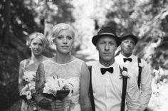 Photos by http://pierrot.com.au  #wedding #retro #rock-a-billy #rock #roll #vintage #farm #tattoos #bow ties #reception #ideas #inspiration