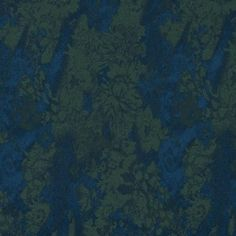 Majolica Blue and Jadesheen Floral Stretch Satin-Faced Twill