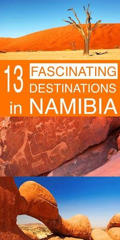 13 fascinating destinations not to miss in Namibia. From the most famous landmarks like Sossusvlei and Etosha Natinonal Park to some fascinating hidden gems - these are our favourite places to see in Namibia. Namibia Travel, Africa Travel, Kenya, Tanzania, Cool Places To Visit, Places To Travel, Places To Go, Vacation Places, Africa Destinations