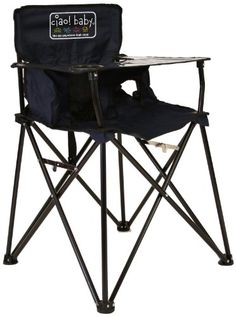 ciao! baby Portable Travel Highchair, Navy - Navy colored ciao baby chair is the go-anywhere-highchair Created for families on the go with small children, ciao baby is a time-saving, transportable highchair created for little ones 3 months to 3 years old. This user-friendly, no-fuss, free standing chair with its proprietary flexible seat an...