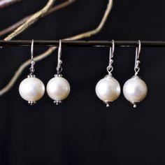 Just Pearls earrings - by Joanna Morgan Designs