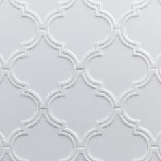 Mosaic Tiles for Backsplash, Floors & Walls Arabesque Tile Backsplash, White Kitchen Backsplash, Ceramic Wall Tiles, Mosaic Tiles, Backsplash Ideas, Tile Ideas, Stove Backsplash, Porcelain Tiles, Mosaics