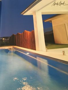 Pool with timber fence