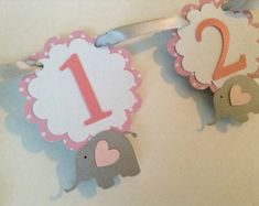 Princess Photo Banner in pink and gold. First Birthday Garland. Custom Colors Princess Photo Banner in pink and gold. Birthday Picture Banner, Birthday Garland, Photo Banner, First Birthday Pictures, One Year Birthday, 1st Birthday Parties, 12 Month Pictures, Elephant Theme, Purple Elephant