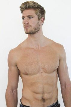 Handsome fitness model David Fisher at Wilhelmina L. Hairy Men, Bearded Men, Ginger Men, Blonde Guys, Blond Men, Muscular Men, Interesting Faces, My Guy, Male Beauty