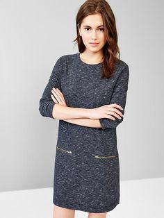 Zip-pocket shirttail dress Product Image