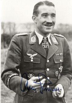 Adolf Galland smiling.