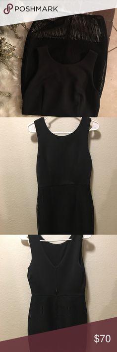 A black half fishnet dress Black never used BCX Dresses Mini