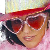 Gafas Años 60 Corazón rosa
