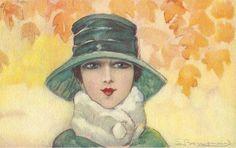 Ретро коллекционное ассрорти - старые открытки   Шляпное...дамское. Комментарии : LiveInternet - Российский Сервис Онлайн-Дневников