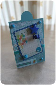 clear colours: Blue gift tag