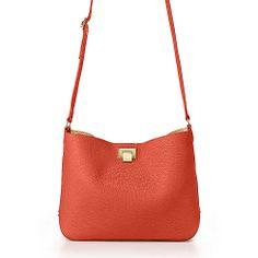 Dahlia crossbody hobo in poppy grain leather, more colors available. | Tiffany & Co.
