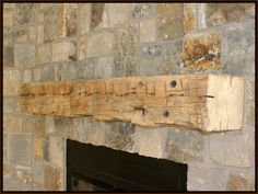 Stone Fireplaces Logs And Fireplaces On Pinterest