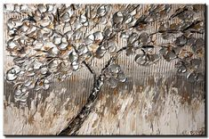 Silver Abstract Print, Abstract Painting, Wall Art, Silver Tree PRINT on Canvas, Canvas Art Print by Osnat Canvas Wall Decor, Canvas Art Prints, Modern Prints, Modern Wall Art, Lotus Art, The Giving Tree, Blooming Trees, Canvas Painting Landscape, Tree Artwork