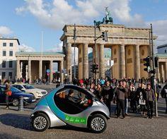 hiriko, folding, ev, electric vehicle, germany, berlin, city share, urban, deutsche bahn