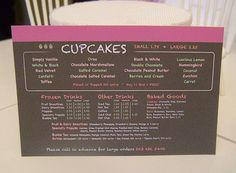 CHALKBOARD BAKERY MENU Sign Shop Bakery Cafe by BakinginMiniature, $12.00
