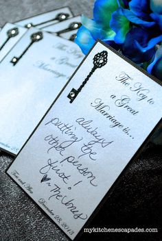 Wedding Advice Cards:  use these instead of a wedding guest book.  So much more personal and fun!