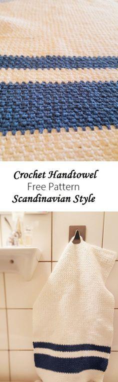 Crochet handtowel scnadinavian style