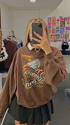 Indie Outfits, Teen Fashion Outfits, Cute Casual Outfits, Retro Outfits, Fall Outfits, Vintage Outfits, Skater Girl Outfits, Stylish Outfits, Indie Fashion