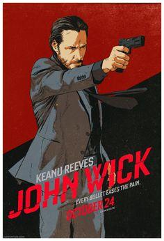 John Wick -movie poster - Dave Rapoza
