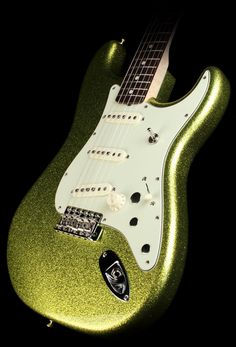Fender Custom Shop Dick Dale Stratocaster Electric Guitar Chartreuse Sparkle #music
