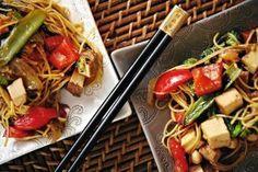 Warzywa stir-fry z tofu
