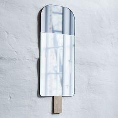 Ice Cream Mirror by Tor & Nicole vitner Servé -22x57cm Grey  EO - Elements Optimal