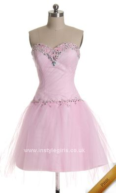 prom dress 2014 pink ball gowns UK short