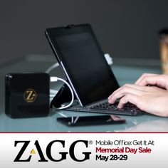 Save on a mobile office off during the ZAGG Memorial Day Sale