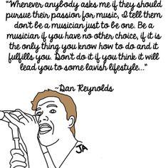 Imagine Dragons Frontman Dan Reynolds Talks Success, In Illustrated Form. Illustration by Jena Ardell.