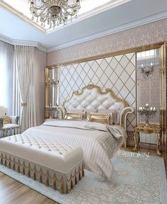 Luxury Bedroom Furniture, Luxury Bedroom Design, Home Room Design, Master Bedroom Design, Home Decor Bedroom, Luxury Interior, Interior Design, Suites, Luxurious Bedrooms
