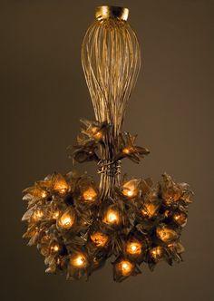 Handmade 45 Net Metal flowers ,Ceiling Light Chandelier.